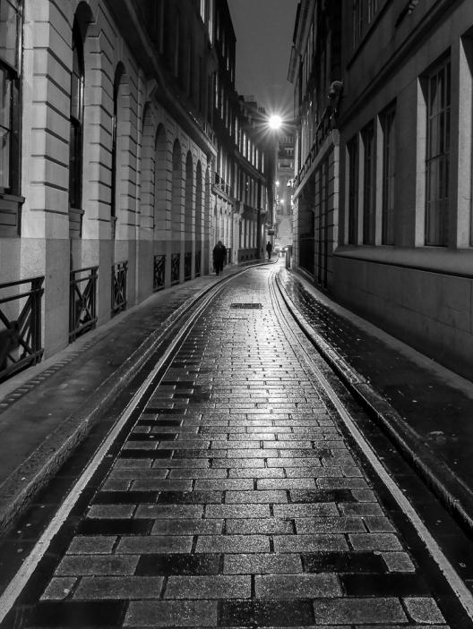 Ironmomger Lane At Night